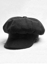 Octagonal Solid Peaked Beret Newsboy Hat -