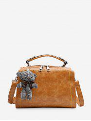 Toy Hangings Decorated Crossbody Bag -