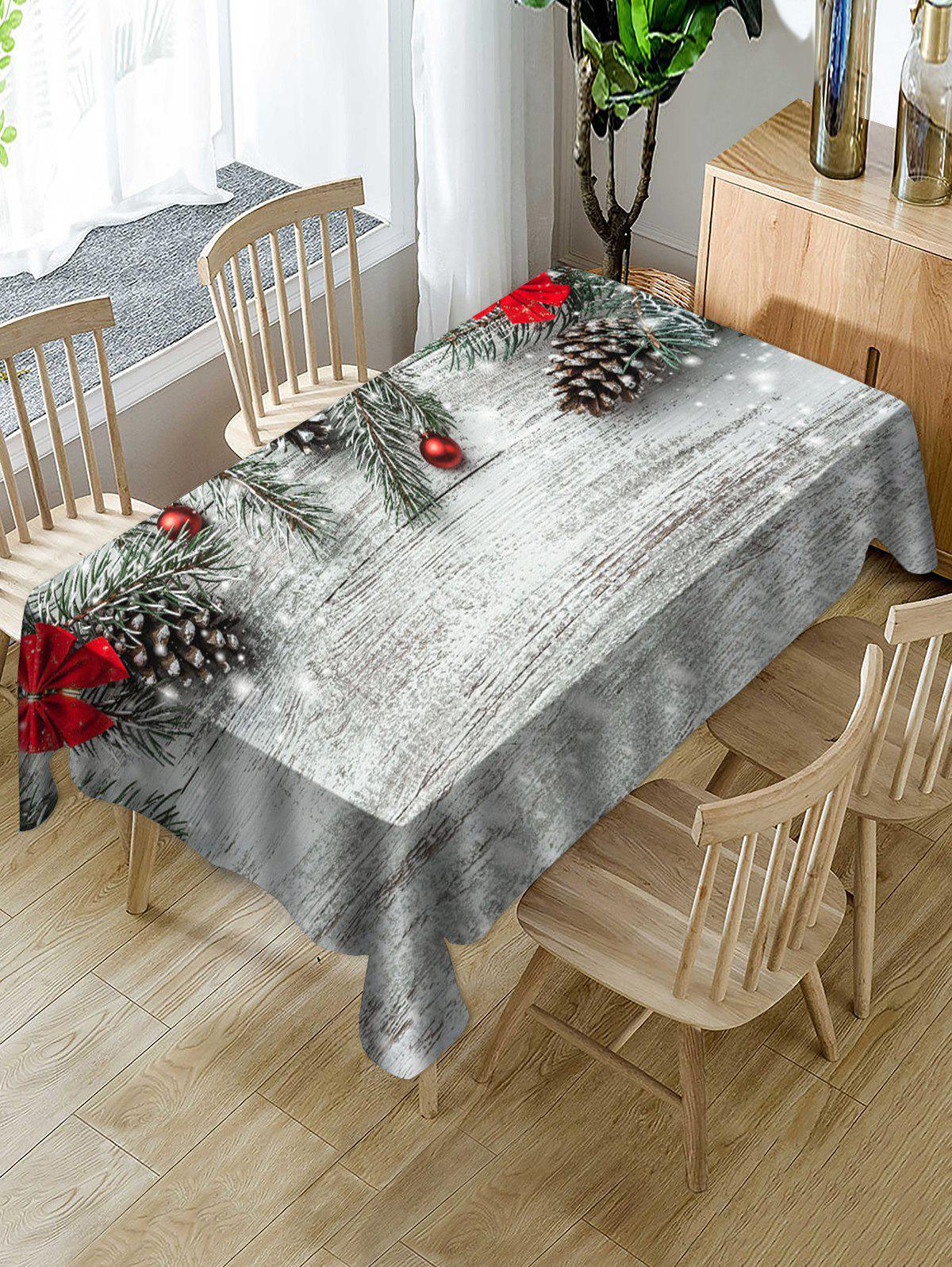 Outfit Christmas Ball Fabric Waterproof Table Cloth