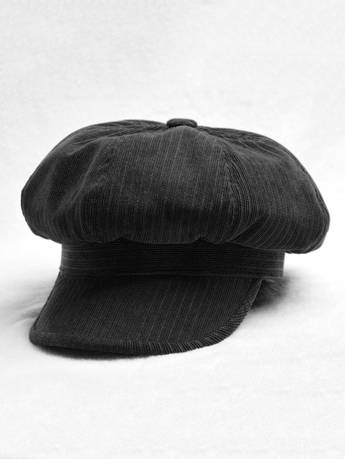 Fashion Octagonal Solid Peaked Beret Newsboy Hat