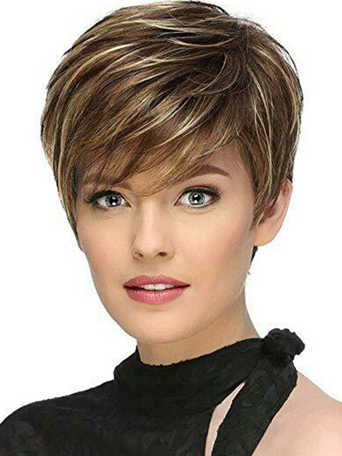 Sale Side Fringe Colormix Short Straight Synthetic Wig