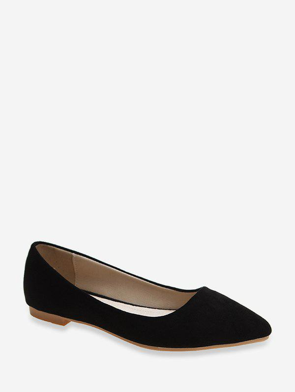 Sale Pointed Toe Low Heel Suede Flats