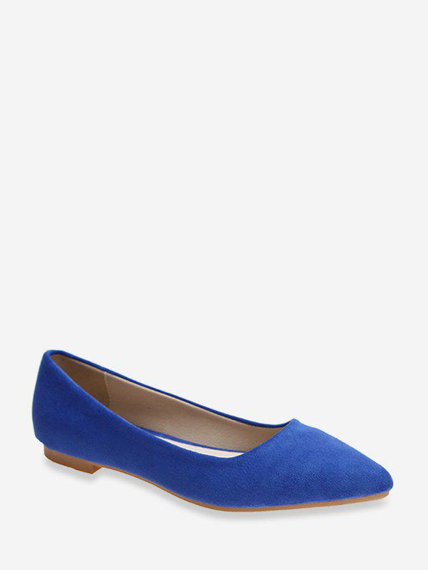 Discount Pointed Toe Low Heel Suede Flats