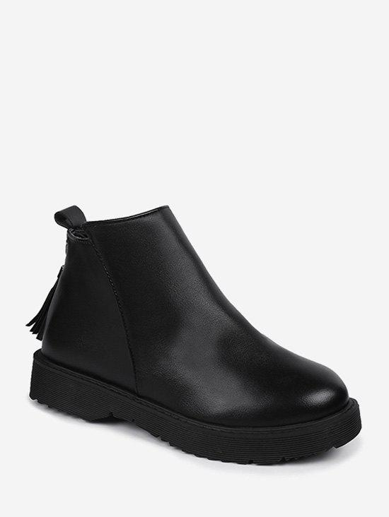 Affordable Tassel PU Leather Ankle Bootes