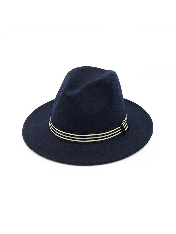 Hot Striped Embellished Jazz Hat