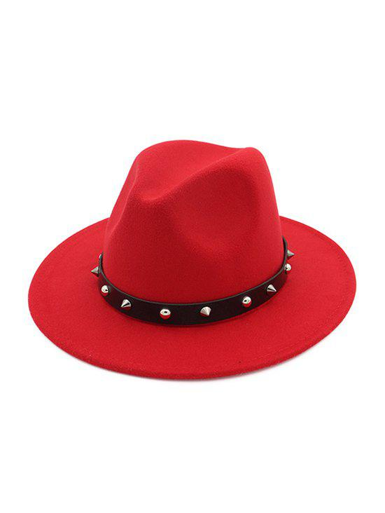 Outfits Rivets Embellished Jazz Hat