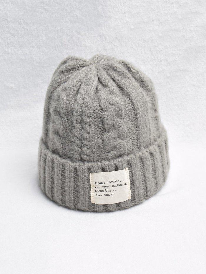Sale Casual Turn Up Edge Knitted Braid Hat