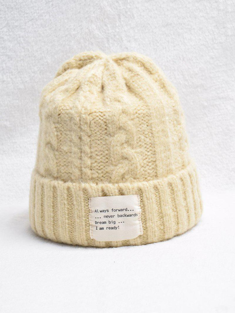 Unique Casual Turn Up Edge Knitted Braid Hat
