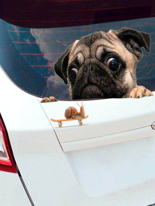 Trendy Dog Snail Pattern Car Sticker Set