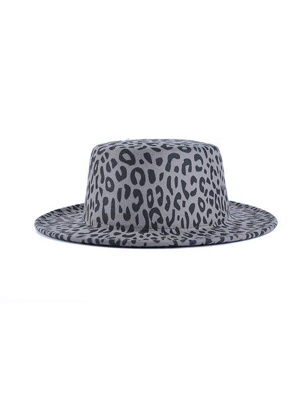 Outfits Chic Leopard Pattern Flat Top Hat