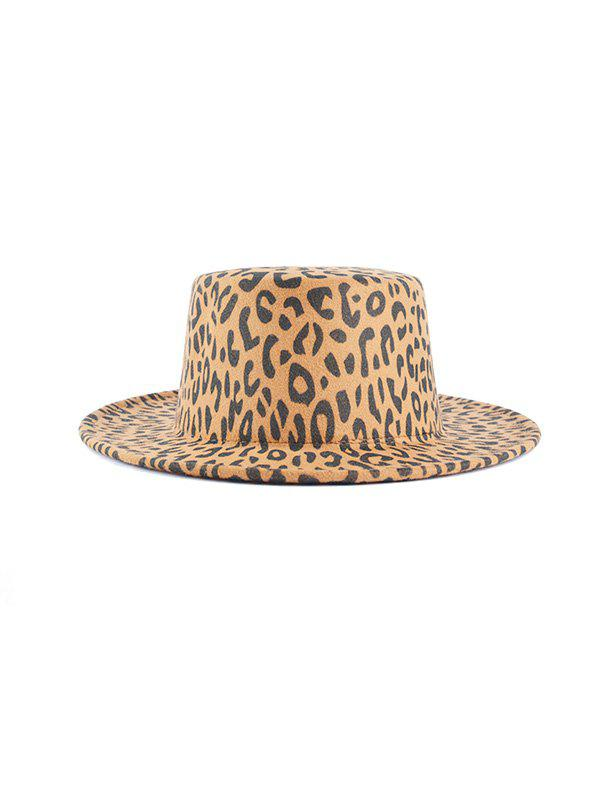 Cheap Chic Leopard Pattern Flat Top Hat