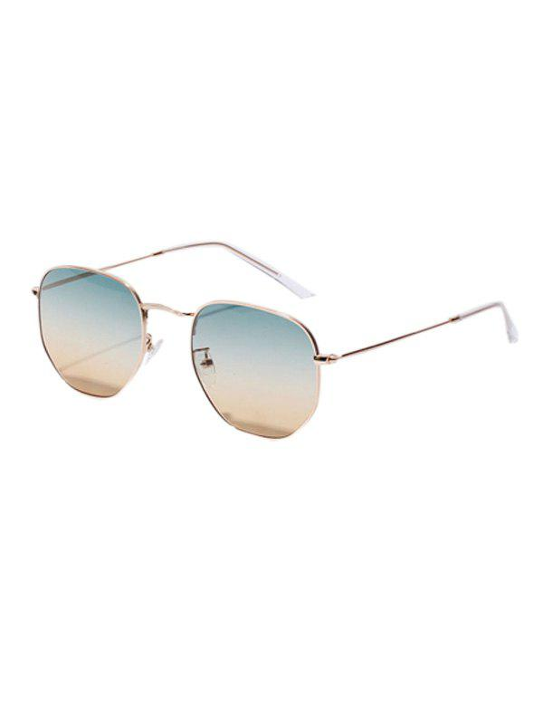 Unique Retro Square Shape Alloy Frame Sunglasses
