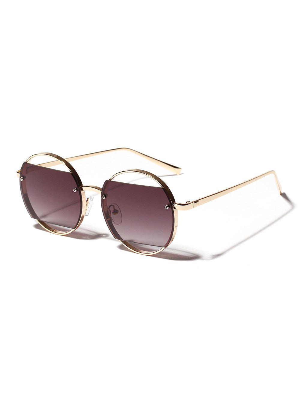 Sale Hollow Round Frame Sunglasses