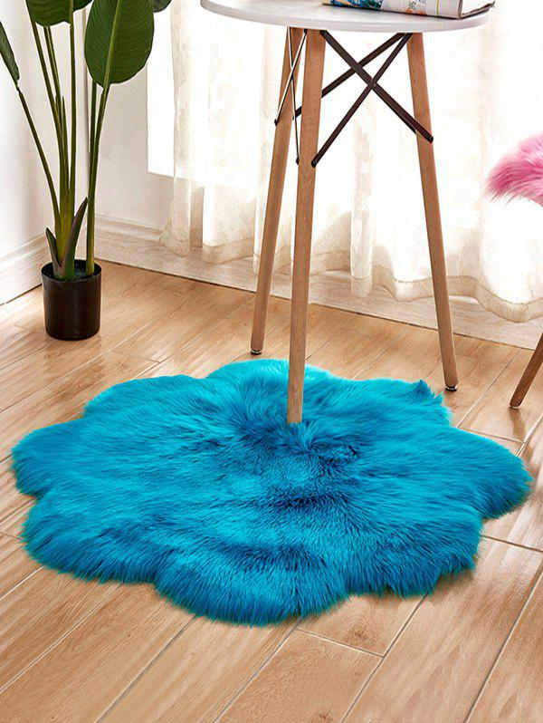 Outfits Flower Shape Faux Fur Soft Throw Rug