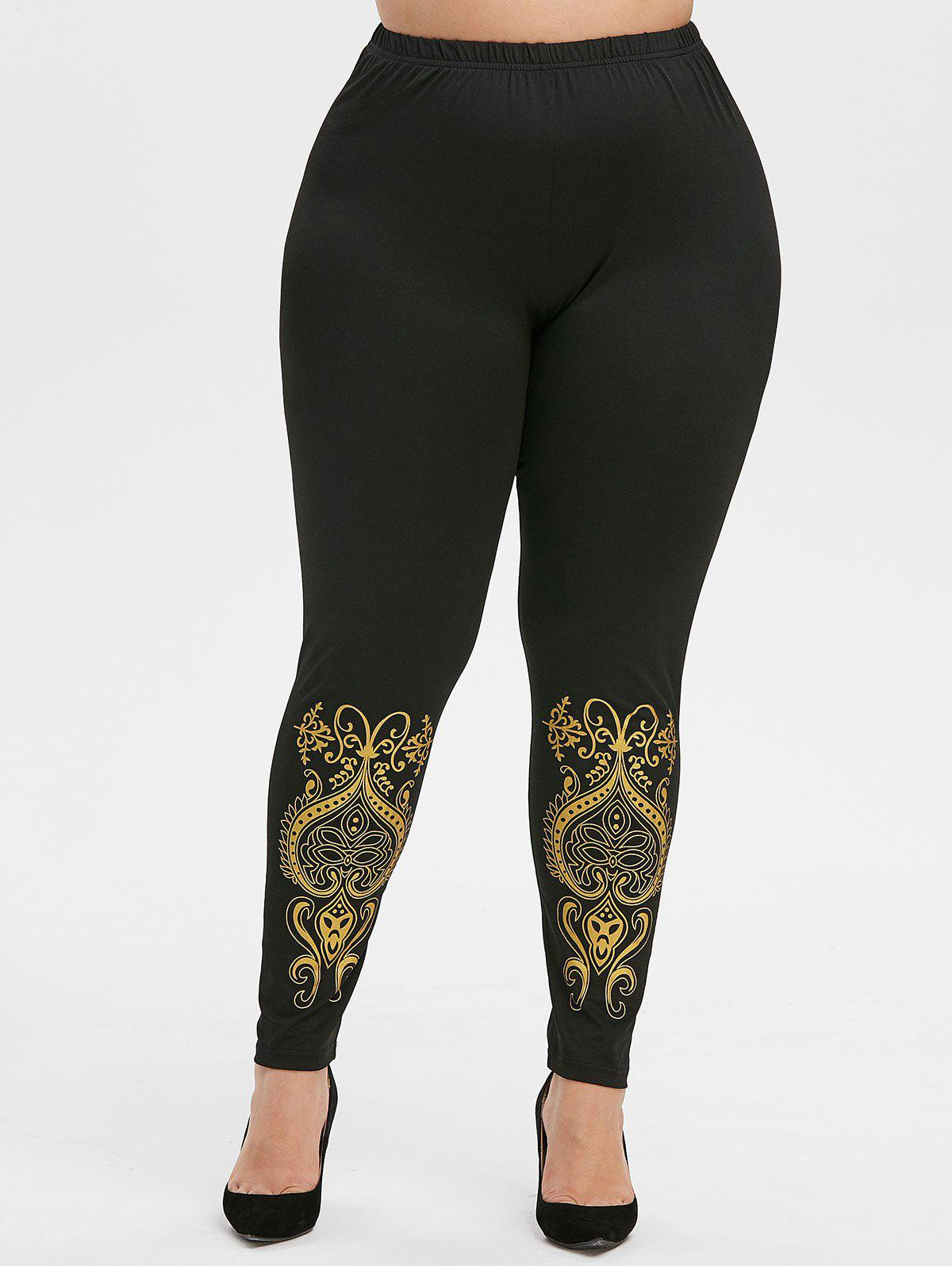 Buy Plus Size Baroque High Waisted Leggings