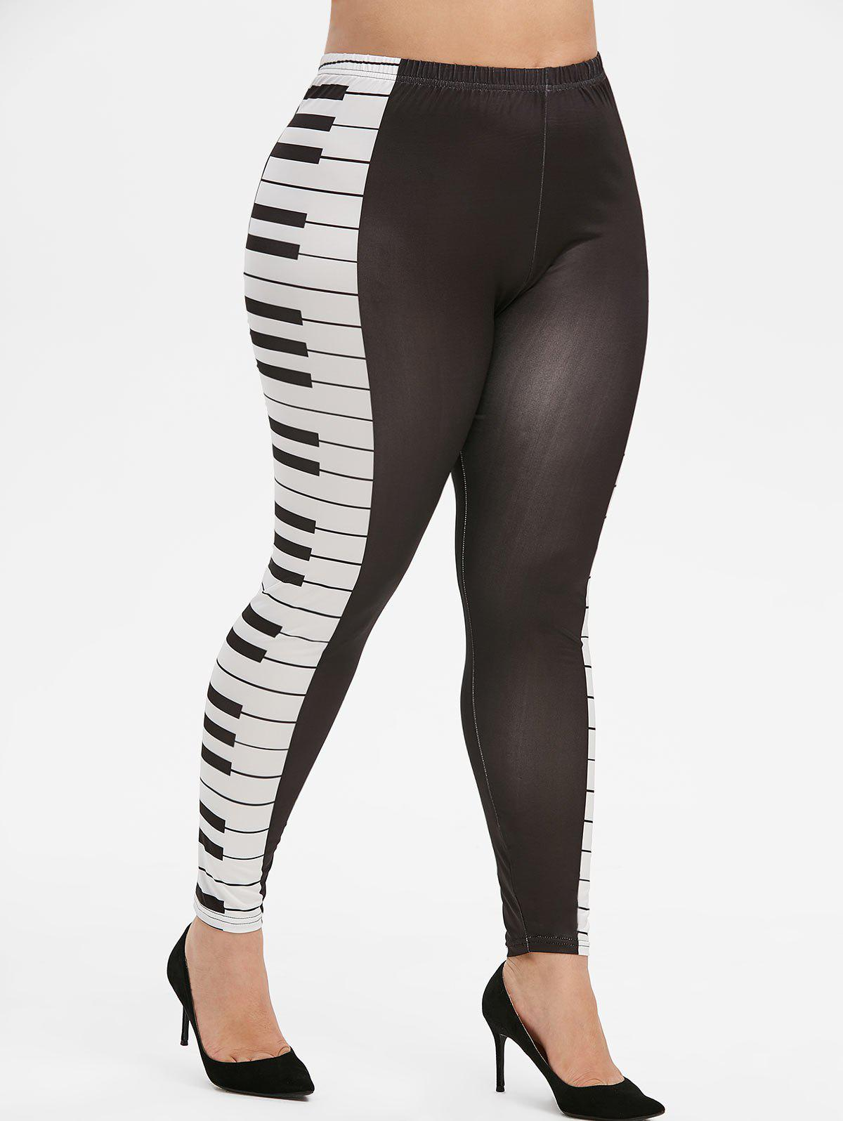 Shop High Waisted Pull On Piano Keys Print Leggings