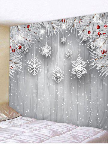 Christmas Tree Branch Snowflake Print Wall Tapestry - MULTI - W118 X L79 INCH