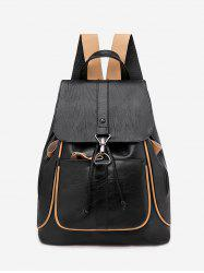 Contrast Piped Casual Drawstring Backpack -