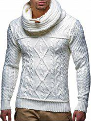 Casual Geometric Pattern Pullover Sweater -