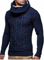 Geometric Pattern Long Sleeves Pullover Sweater -
