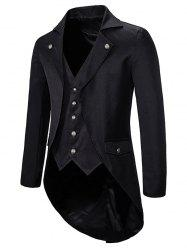 High Low Back Split Tuxedo Coat -