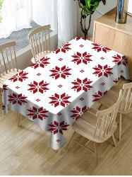 Christmas Snowflake Pattern Fabric Tablecloth -