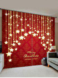 Merry Christmas Star Pattern Window Curtains -