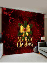 Merry Christmas Knot Pattern Window Curtains -