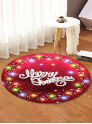 Merry Christmas Light Pattern Round Floor Rug -