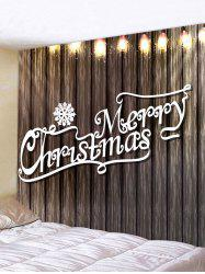 Christmas Letter Wood Grain Printing Waterproof Tapestry -