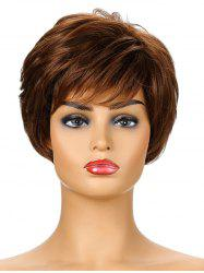 Fluffy Short Synthetic Side Bang Straight Wig -