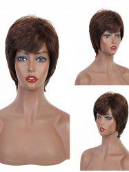 Side Bang Short Straight Layered Synthetic Wig -