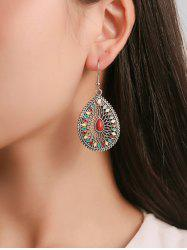 Ethnic Teardrop-shaped Carved Hollow Earrings -