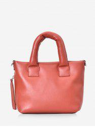 Minimalist PU Leather Mini Tote Bag -