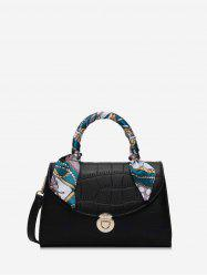Silk Embellished Animal Embossed Tote Bag -