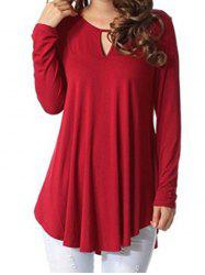Keyhole Long Sleeve Top -
