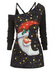 Moon Christmas Longline Top with Cami Top -