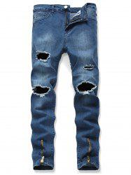 Destroy Wash Long Jeans -