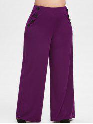Plus Size High Rise Palazzo Pants -