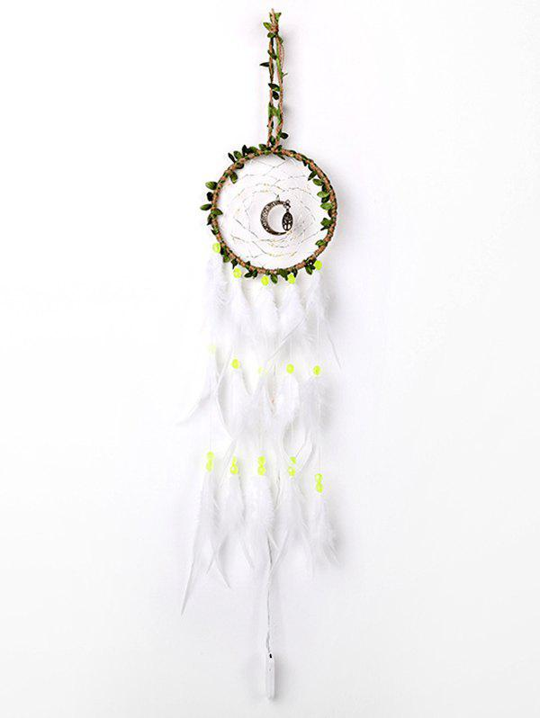New Handmade Moon Tree Leaves LED Light Feather Dream Catcher