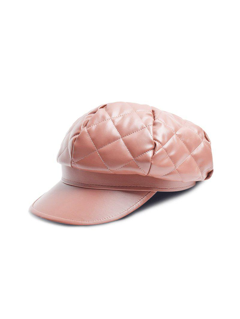 Shops Solid PU Quilted Casual Cap