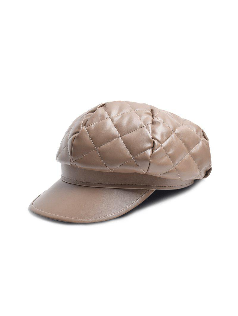 Buy Solid PU Quilted Casual Cap