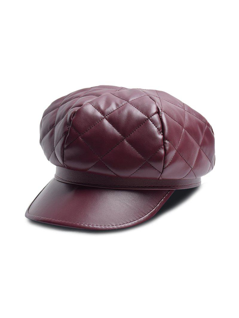 Best Solid PU Quilted Casual Cap