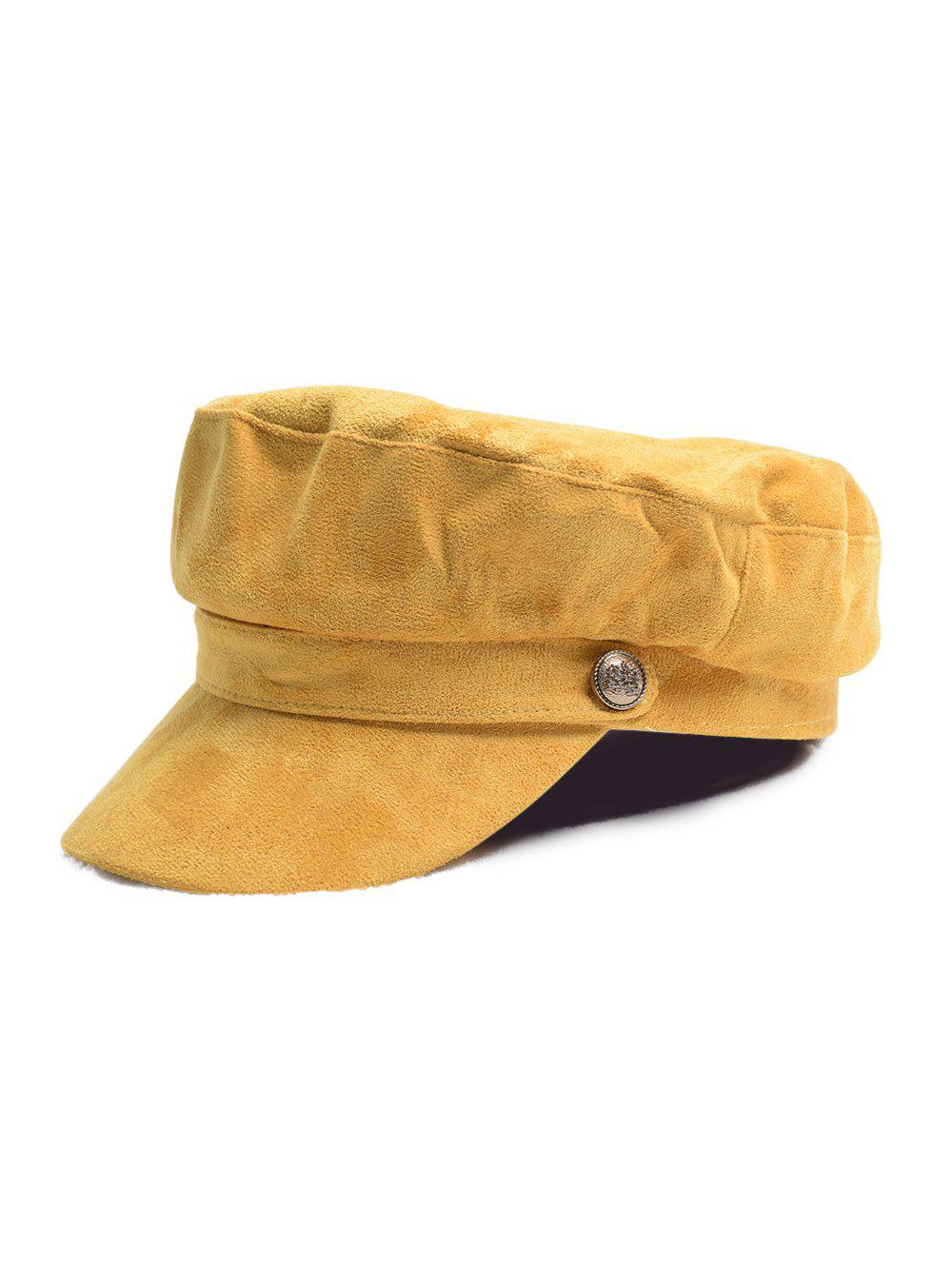 Hot British Style Solid Suede Casual Cap