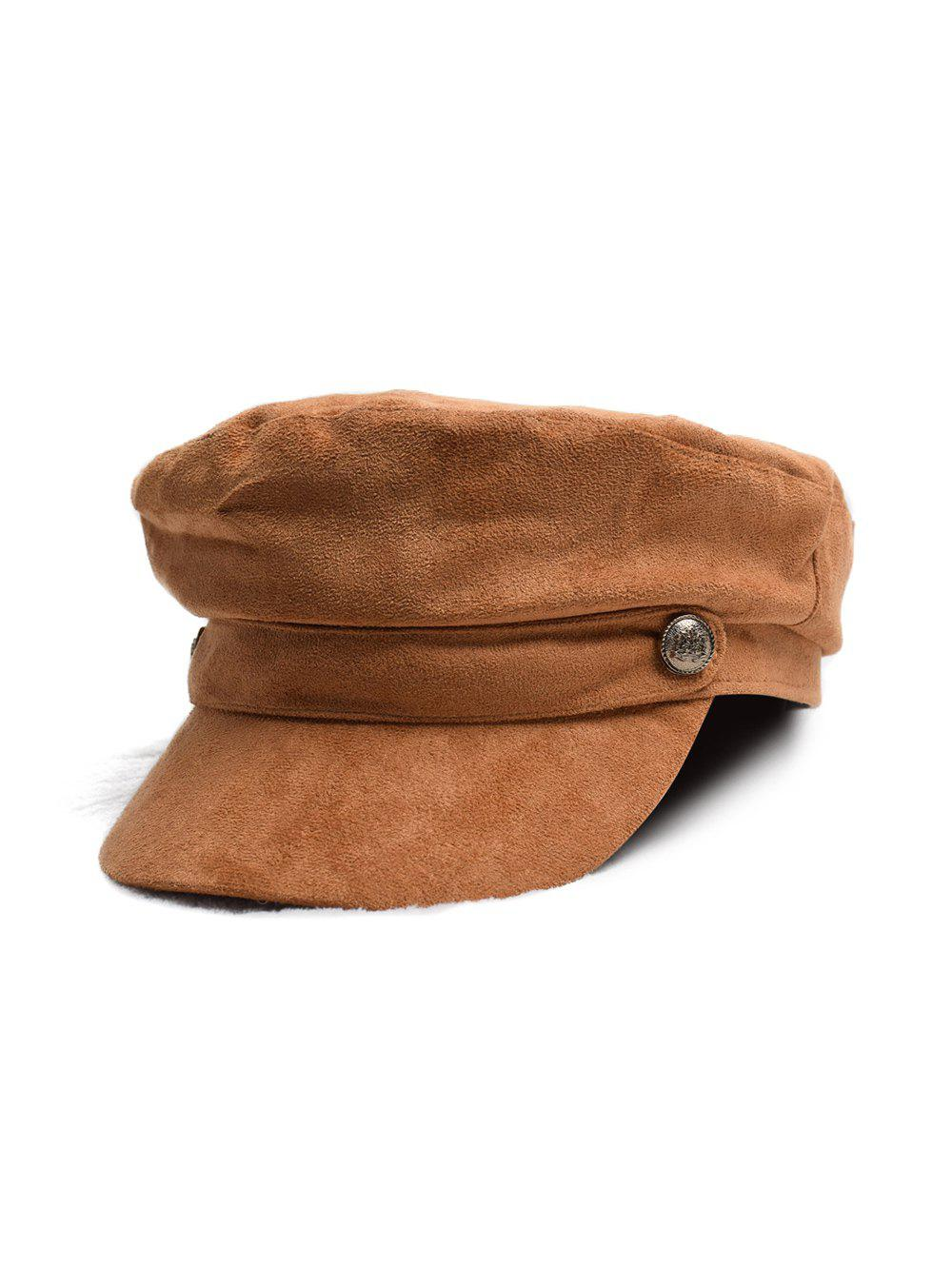 Cheap British Style Solid Suede Casual Cap