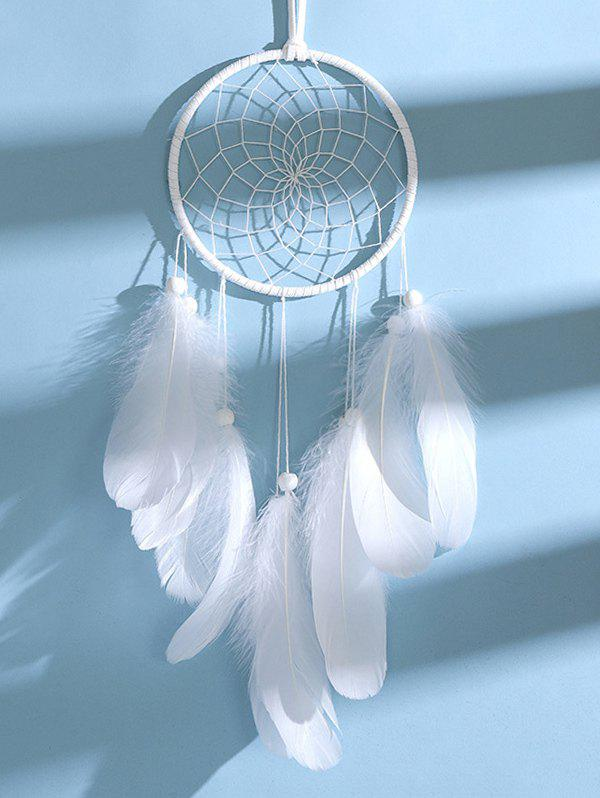New Handmade Beaded Feather LED Light Dream Catcher