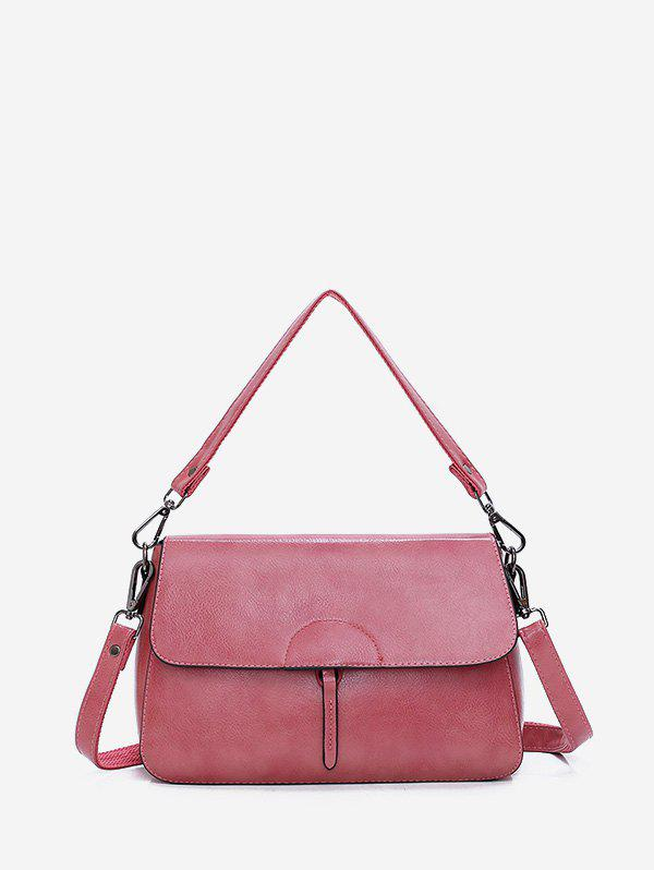 Outfit Plain Top Handle Flap Crossbody Bag