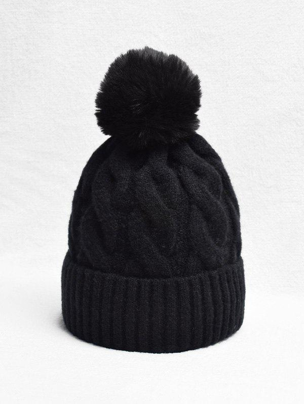 Shops Turn Up Edge Winter Braid Knitted Bobble Hat