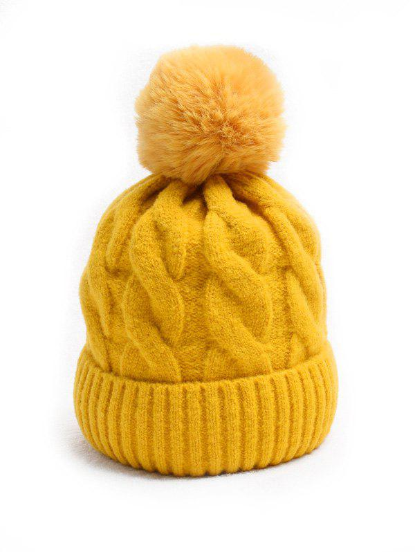 Store Turn Up Edge Winter Braid Knitted Bobble Hat