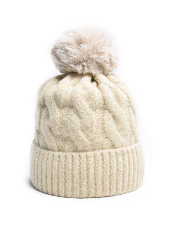 Outfits Turn Up Edge Winter Braid Knitted Bobble Hat